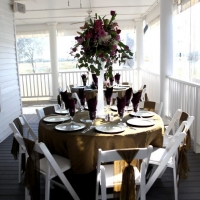 gorgeous flowers at a reception in House Plantation - wedding reception photos