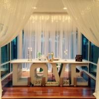 wedding table at house plantation wedding venue - wedding reception photos