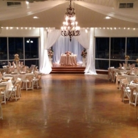 Wedding reception photos - beautiful night reception at house plantation