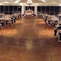 beautiful wedding receptions in the evening in Houston