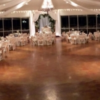 indoor wedding reception at House Plantation at night