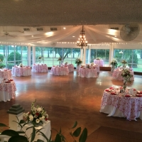 color of love reception tables - wedding reception photos
