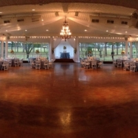 reception with a view of the grounds at house plantation - wedding reception photos