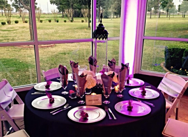 reception tables in March in Houston