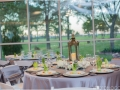 Breathtaking wedding reception with gorgeous views at House Plantation