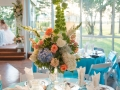 Flowers Table - wedding reception photos