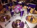Shades of purple and gifts at a reception at House Estate