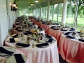 beautiful reception tables ready to be placed after the ceremony