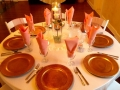 beautiful wedding reception table with a single rose and candle.jpg
