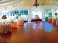 elegant reception tables with an exeptional view in october