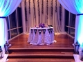 his and her table with wedding decor