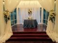 Wedding reception photos - reception table for bride and groom