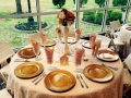 reception table with a view - wedding reception photos