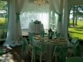 reception tables with graden views at House Estate