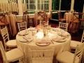 wedding reception with interesting decor