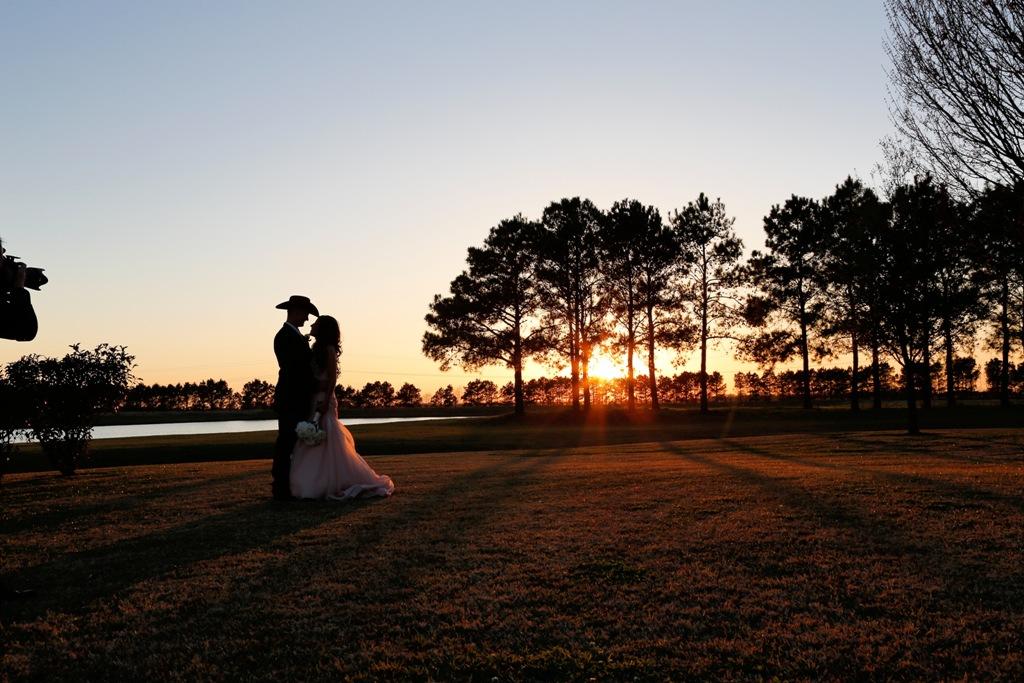 sunset lake views at House Plantation - wedding venue photos