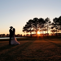 sunset lake views at House Plantation - wedding venue photos