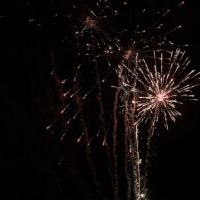 Ending the night with fireworks at House Plantation