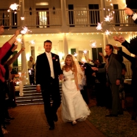 sparklers and House Plantation - wedding venue photos