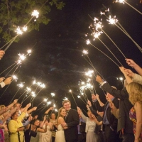 exit pics with sparklers
