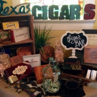 indoor wedding cigar bar