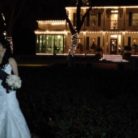 night wedding at house plantation - wedding venue photos