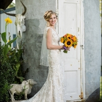 photo ops for the bride at House Plantation