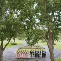 wedding party photo ops at circle drive