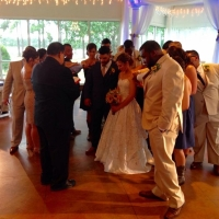 wedding party praying