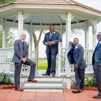 Casual groomsmen at the gazebo at House Plantation