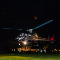 Helicopter Take-off - wedding venue photos