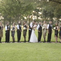 Wedding party at a Great Gatsby theme