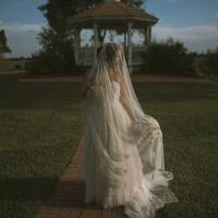 beautiful photo ops of bride and gazebo