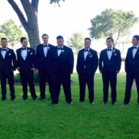 cool groomsmen at a summer Houston wedding venue