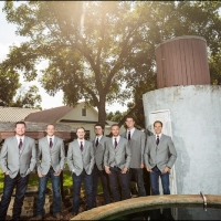 grooms and groomsmen at the well at House Plantation