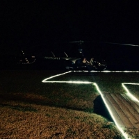 landing strip for helicopter- country weddings
