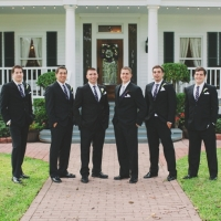 men at house plantation - wedding venue photos