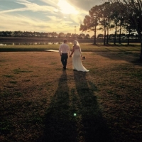 walk by the lake at house plantation - wedding venue photos