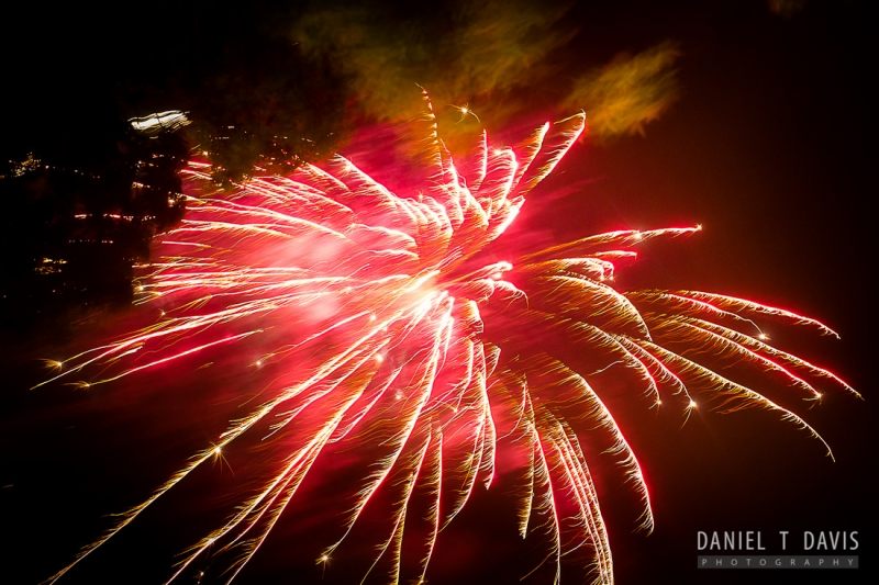 firework ending at House Plantation