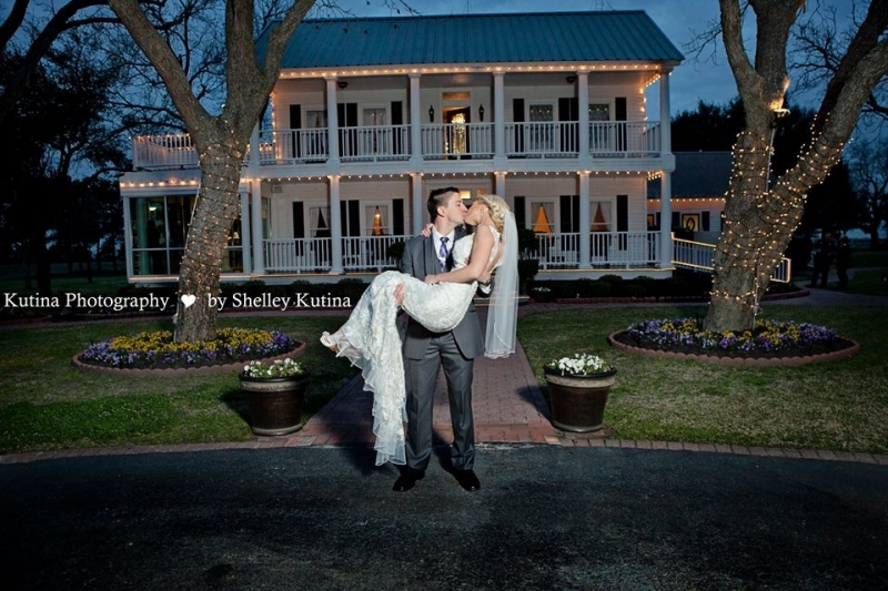 holding the bride at House Plantation