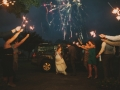 fireworks when exiting House Plantation - wedding venue photos