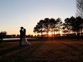 sunset lake views at House Estate - wedding venue photos