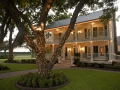 House Plantation in the summer with lights