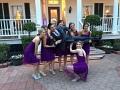 fun with bridal party at Houston wedding
