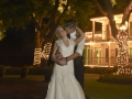 wedding kiss in front of House Plantation