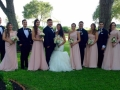 wedding party at House Estate in the summer