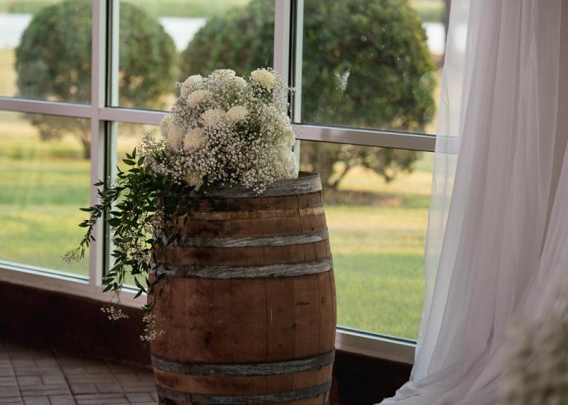 wedding decor at House Plantation