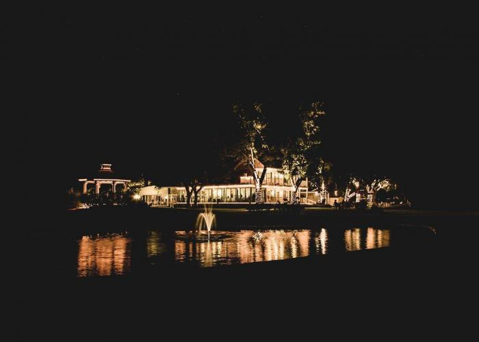 beautiful sparkling night view of House Plantation