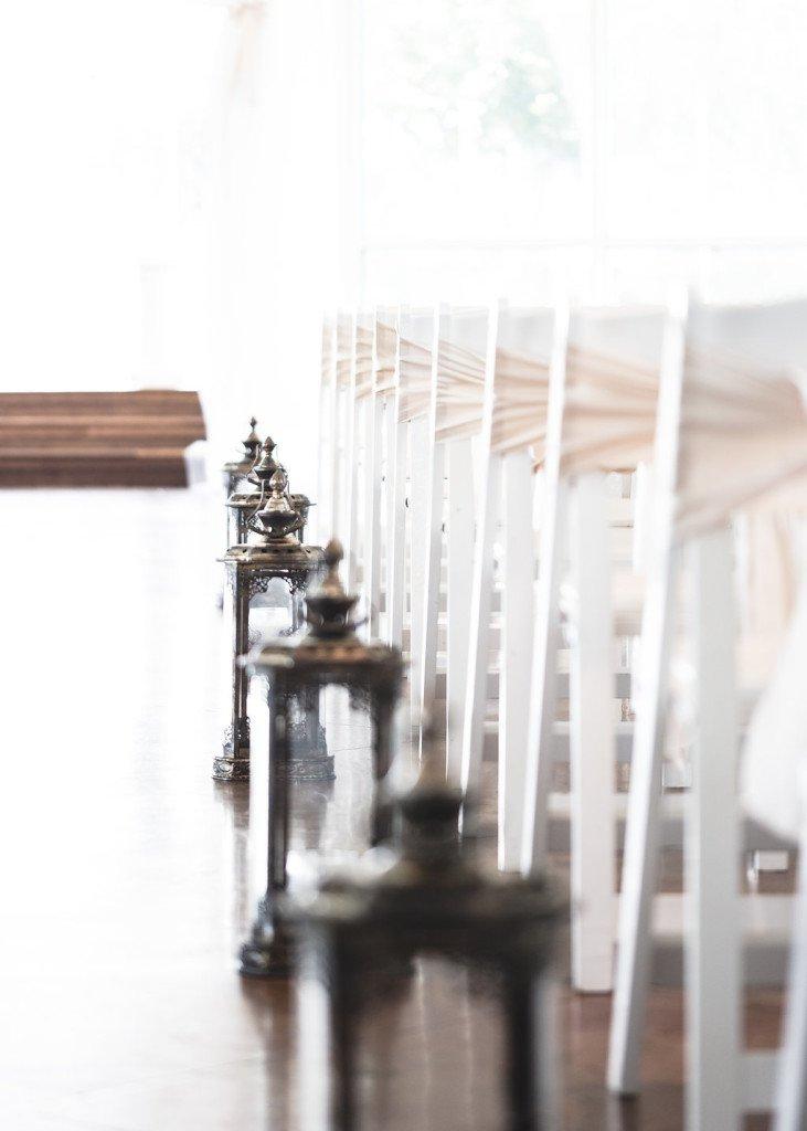 elegant aisle markers for a september wedding at House Plantation