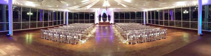 evening indoor wedding in Houston